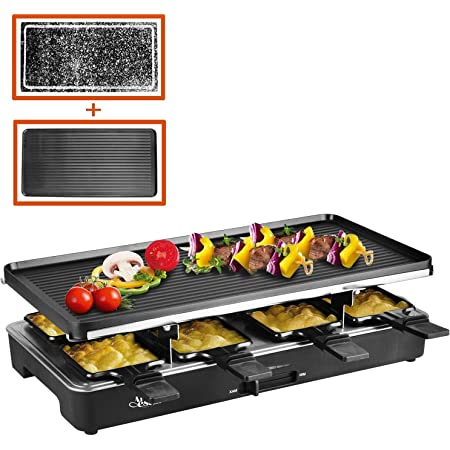rot Küchenprofi 1781001400 Raclette Hot Stone Quattro