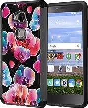 Huawei Sensa Case, Honor 5X Case, Capsule-Case Hybrid Silm Defender Armor Combat Case (Dark Grey & Black) Brush Texture Finishing for Huawei Sensa 4G LTE / Honor5X - (Moth Orchid)