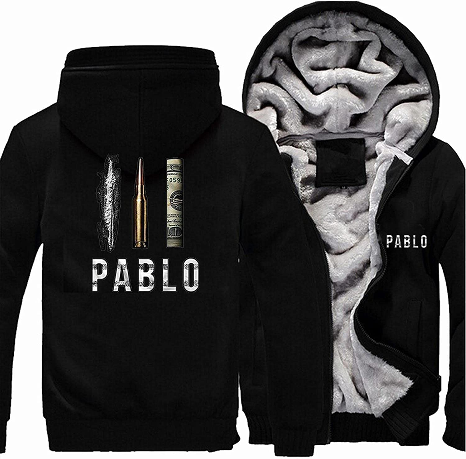 Men's Hoodie Jacket Sweater El Paso Mall - Print Winter NEW before selling Casual Pablo Pullover