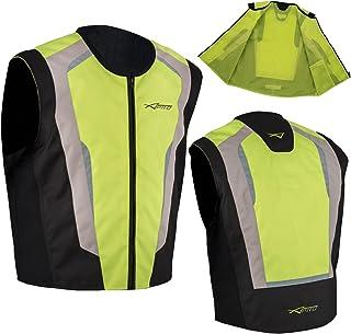 Walmeck XL Gilet Riflettente per Motociclisti Sportivi Giubbotto Riflettente per Moto ad Alta visibilit/à Gilet Protettivo per Moto da Corsa
