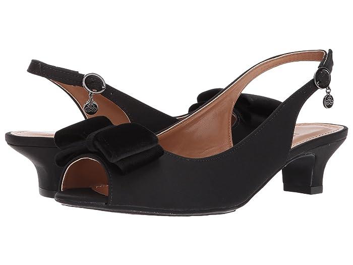 1940s Style Shoes, 40s Shoes J. Renee Landan Black High Heels $62.99 AT vintagedancer.com