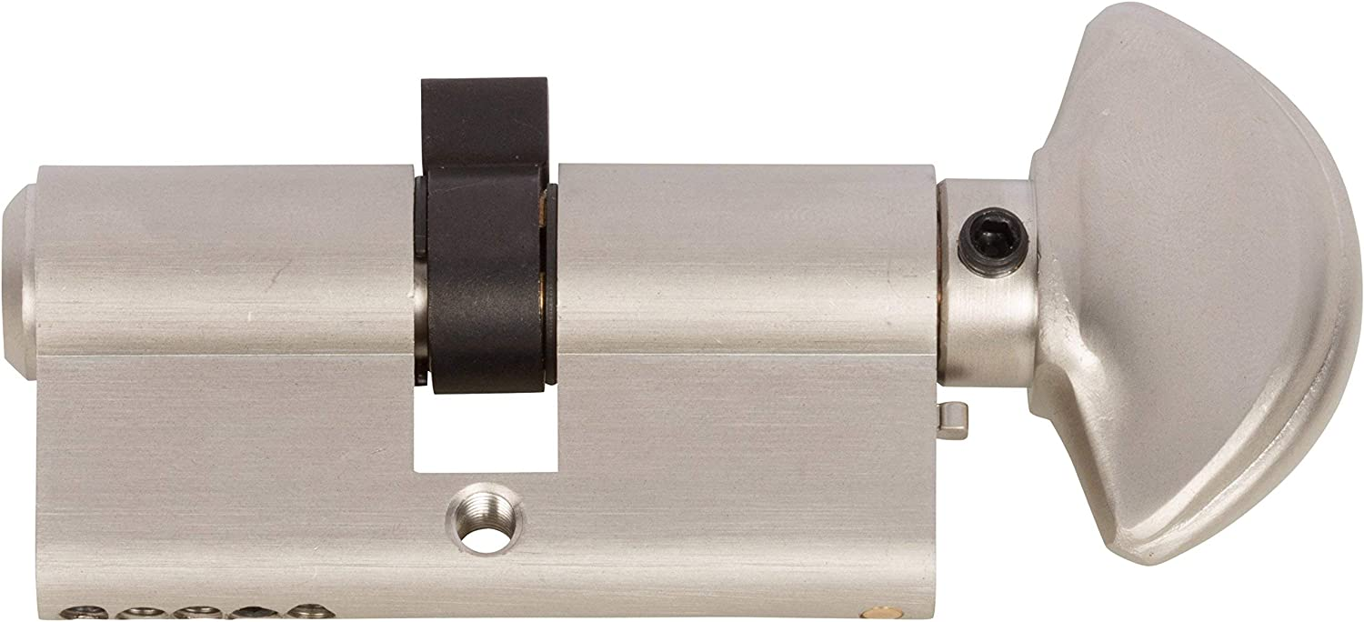 Rockwell New color 90 Degree Solid Brass Euro Cylinder Lock in Bru Indefinitely Profile