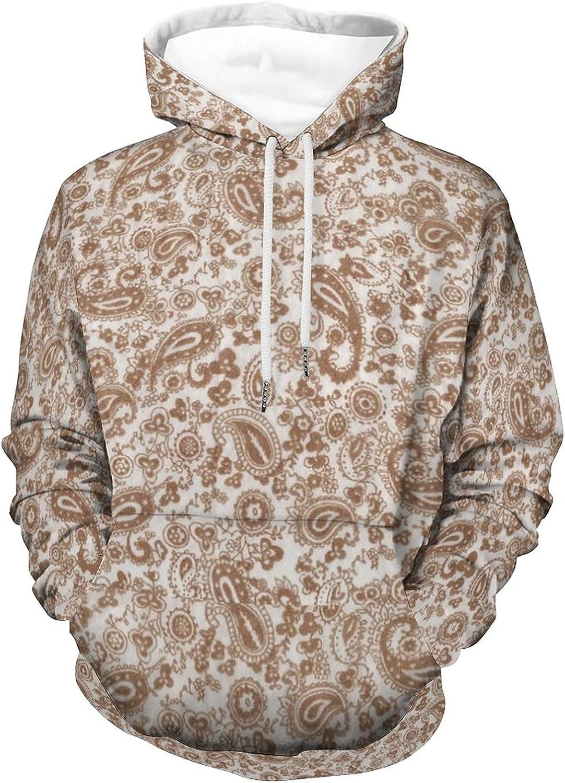 Hoodies Tops Paisley Sweatshirt Long Sleeve Pullover for Men & Women