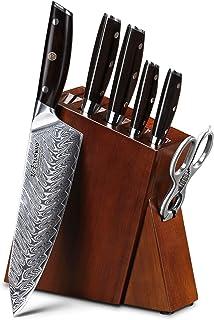 Couteau Couteau de cuisine Ensembles Japonais Damas Couteaux en acier Meilleur Chef Couteau Ensemble avec un excellent ens...