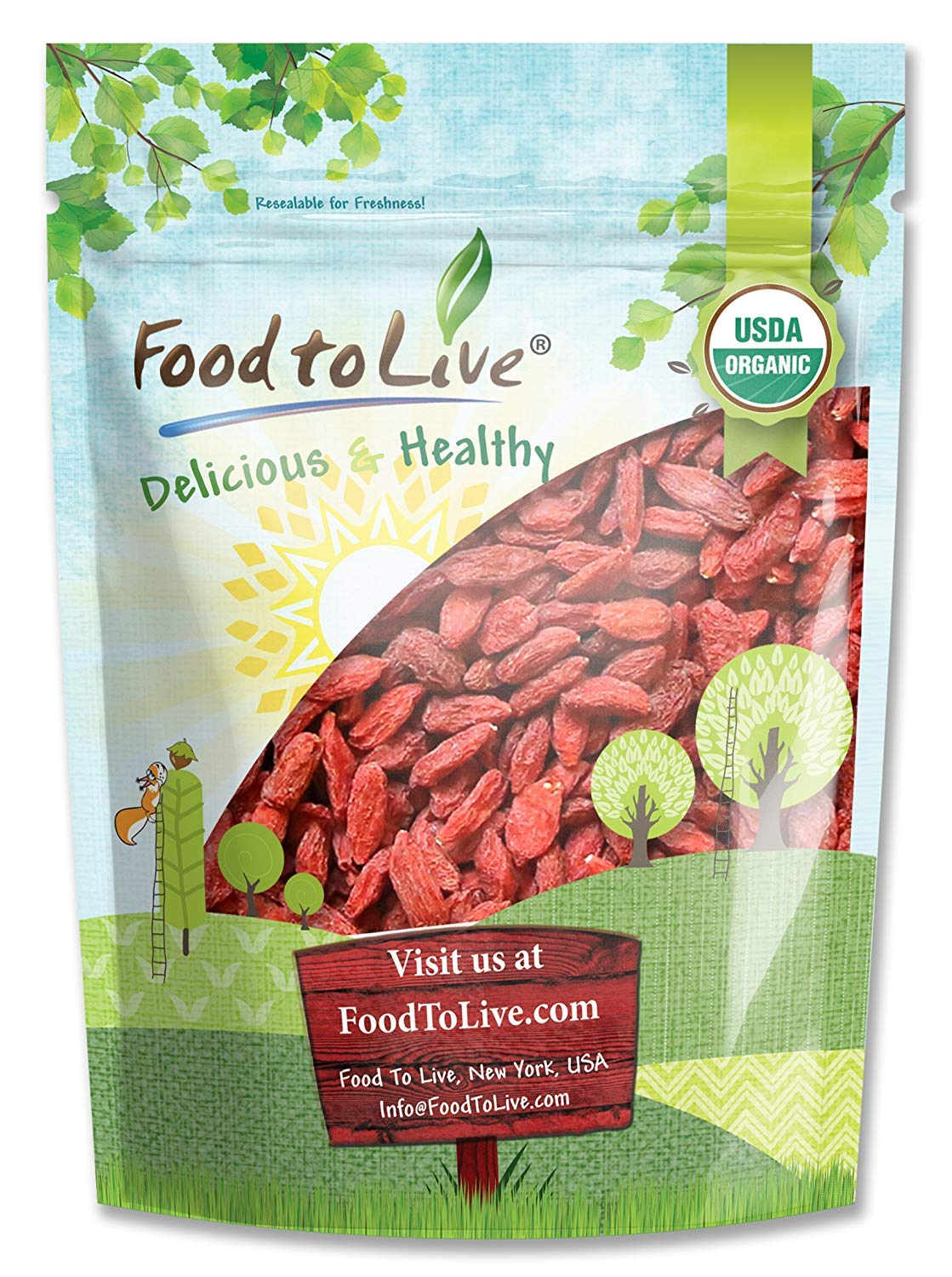 Organic Goji Berries 3 Pounds - and Juicy Large Sun Dried Popular New Orleans Mall Non