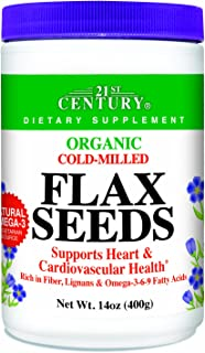 21st Century Flax Seeds, Organic Powder, 14 Ounce (Pack of 2)