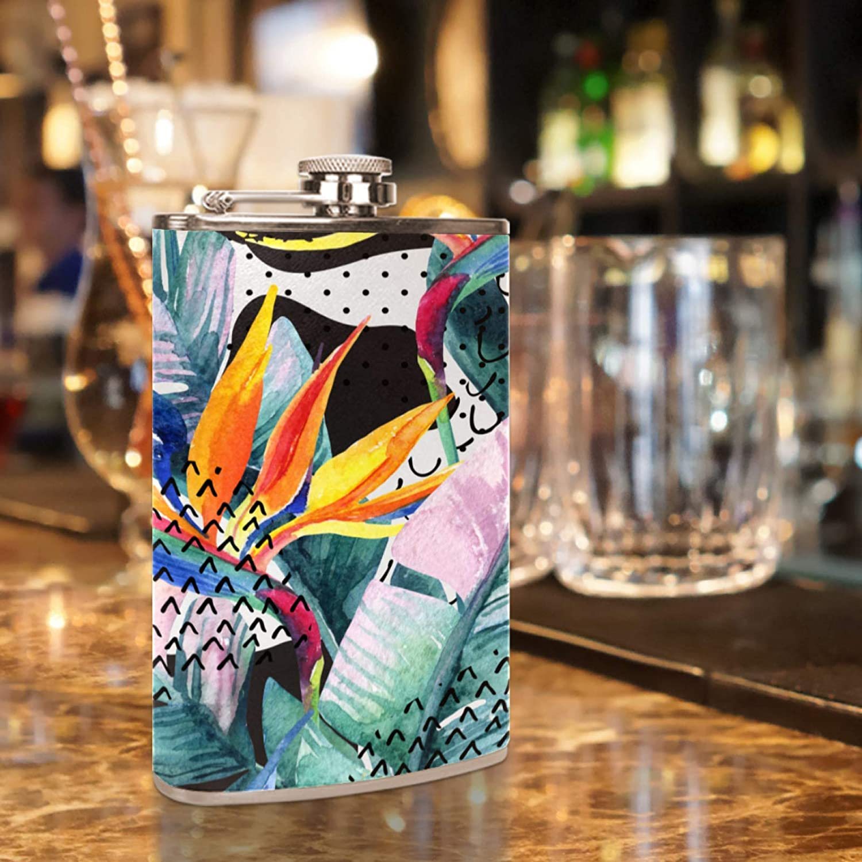 Flasque licorne mignonne en acier inoxydable de 227 ml avec entonnoir