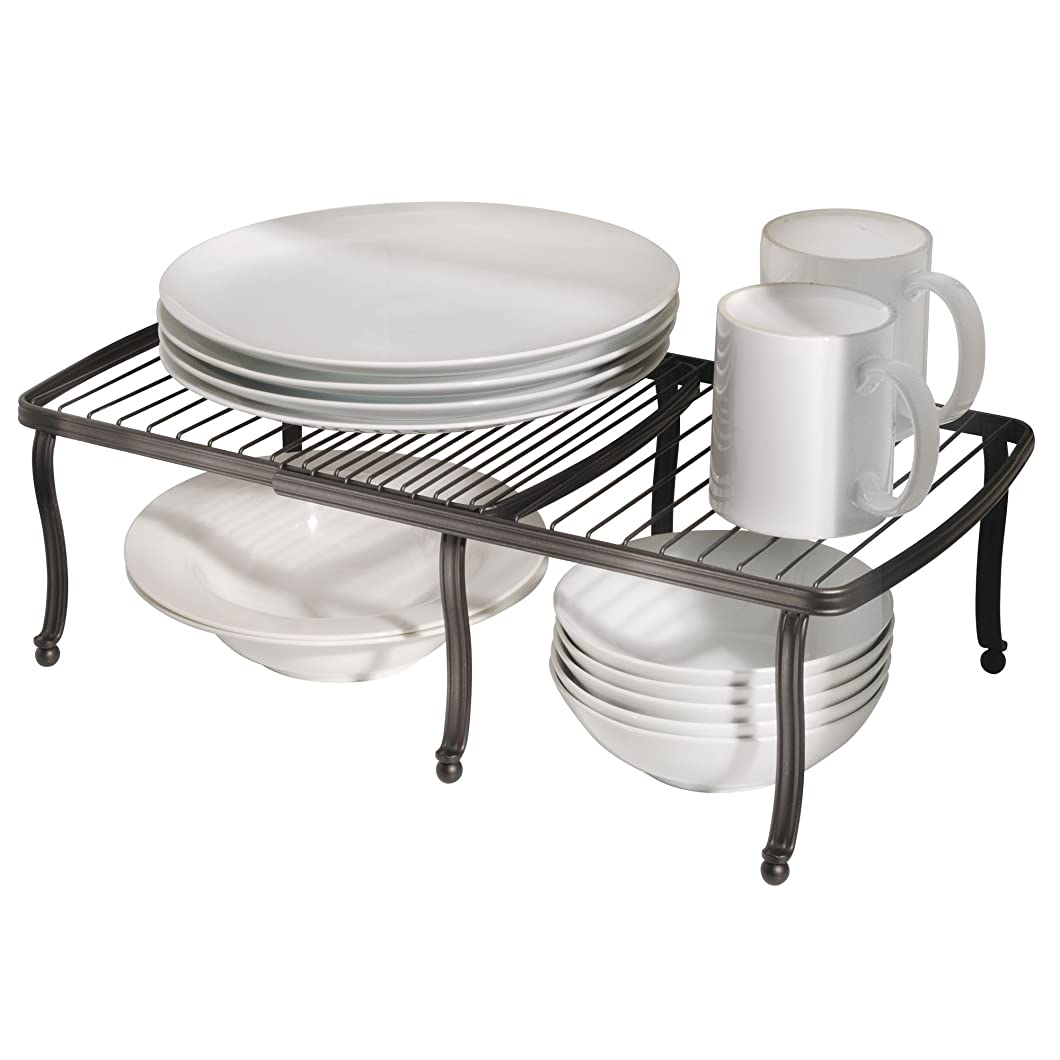 修理可能麺きゅうりInterDesign 食器棚 収納 ラック 調整可能 パントリー キャビネットYork Lyra ブロンズ 51771EJ
