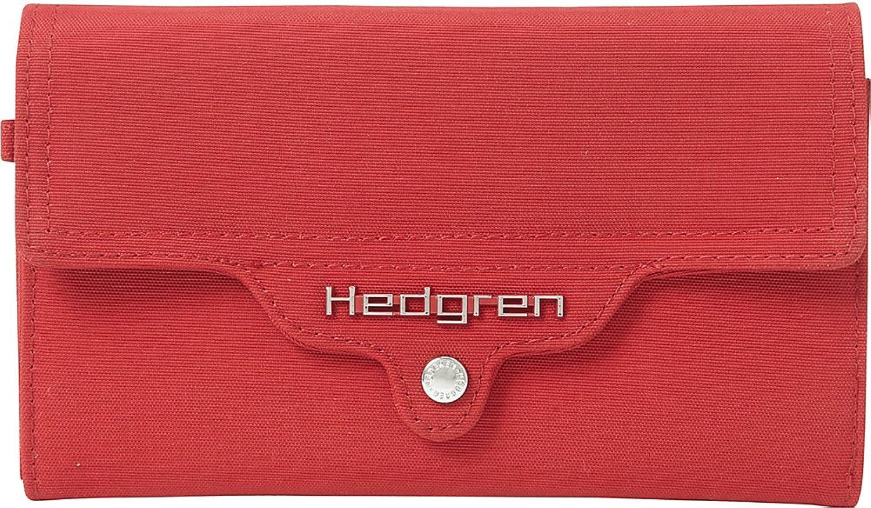 Hedgren [M1562]  Large canvas wallet 'Hedgren' raspberry.