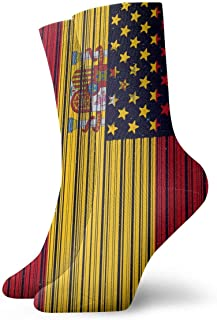 tyui7, Calcetines de la bandera americana de Lacrosse vintage Medias deportivas coloridas y divertidas para hombres Mujeres
