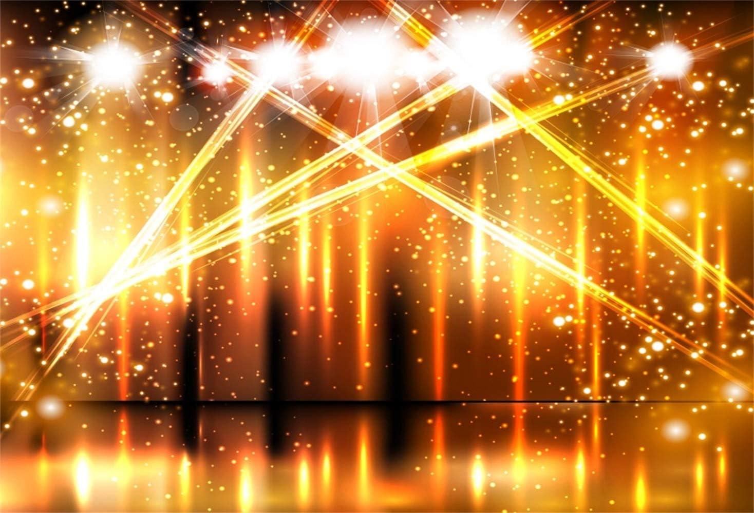 10x7ft Splendid Dreamlike Red Stage Backdrop Vinyl Dreamy Interlaced Spotlights Lightspots Photo Background Talent Show Performance Live Show TV Programming Banner Singer Portrait Shoot