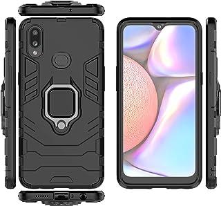 جراب QiongNi لهاتف Samsung SM-A107F/DS Galaxy A10s 2019 / SM-A107F SM-A107M SM-A107M SM-A107M / DS غطاء حافظة ، حامل حلقة ...