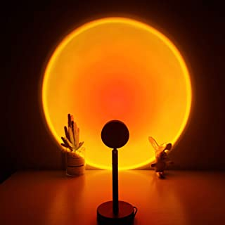 Sunset Lamp, Projector Sunset Light 180 Degree Rotation Projection Led Light for Photography/Selfie/Home/Living Room/Bedro...