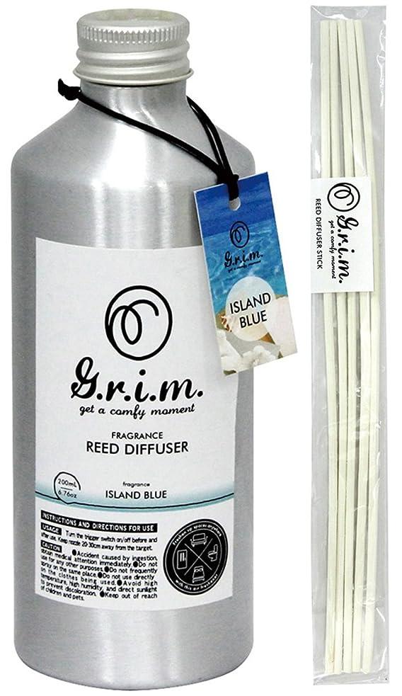 へこみ冷蔵する持ってるノルコーポレーション リードディフューザー g.r.i.m アイランドブルー 180ml OA-GRM-4-2