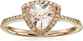 trillion cut morganite ring