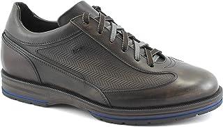 Lion 11581 Testa di Moro Marrone Scarpe Sneakers Uomo Casual Pelle Lacci 42