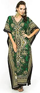ba267b9aa0 Classic Curves Women's Kaftan Dress Beach Cover Up Ladies Kaftan Sleepwear  Polyester Kaftan Night Gown Robe