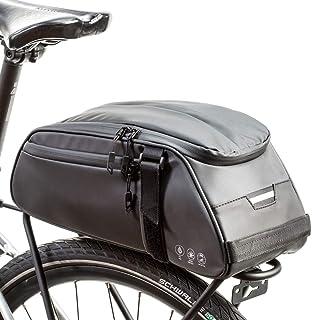 Sponsored Ad - SplendoRoute Bike Trunk Bag 8L Reflective Bicycle Rack Bag Waterproof Bike Seat Bag with Shoulder Strap for...