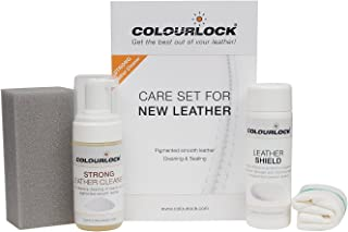 Colourlock Leather Shield Kit - Strong Cleaner & Leather Shield for Cleaning and Protection Against dye transfers on Furni...
