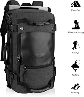 Canvas Backpack Travel Bag Hiking Bag Camping Bag Rucksack