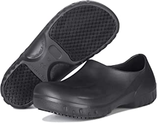 TUOKING Unisex Work Shoes Waterproof Slip Resistant Clog Nursing or Chef Shoes