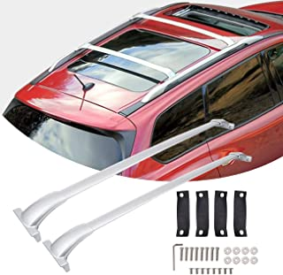 Partol Roof Rack Cross Bars for Nissan Pathfinder 2013 2014 2015 2016 2017, Rooftop Crossbars Luggage Carrier for Canoe Kayak Snowboard Bike (1 Pair, Silver)