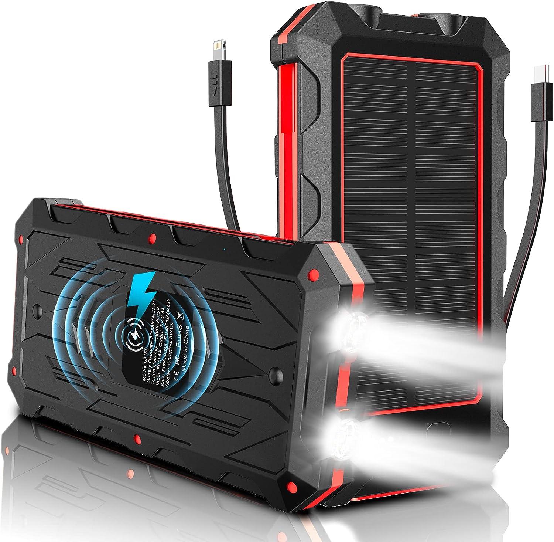 HSL 30000mAh Wireless Solar Power Bank $21.99 Coupon