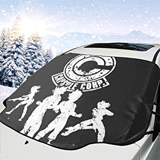 ENXIANGXIJ Power Capsule Corp Dragon Ball Z Car Windshield Snow Cover, Ice Removal Sun Shade, Fit for Universal Cars (58'' X47'')