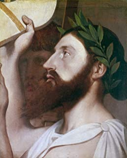 Pindar (C522-443 BC) Ngreek Lyric Poet Oil On Canvas 1830-67 By Jean Auguste Dominique Ingres Poster Print by (18 x 24)
