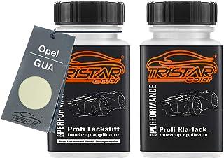 TRISTARcolor Autolack Lackstift Set für Opel GUA Guacamole/Guacamole White Basislack Klarlack je 50ml