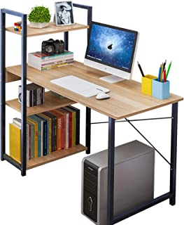 Anmas Power Computer Desk with 4 Shelves,PC Laptop Table Home Office Workstation,Industrial Table, Home Office Desk with M...