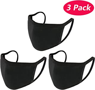 3 Pack Cotton Mouth Mask Anti Dust Mouth Mask,UNIME Unisex Black Face Mask Reusable..