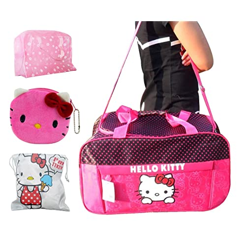 65670fd276 Hello Kitty Travel Bag Ultra-large Capacity Carry on Holdall Shoulderbag   Handbag (Mei