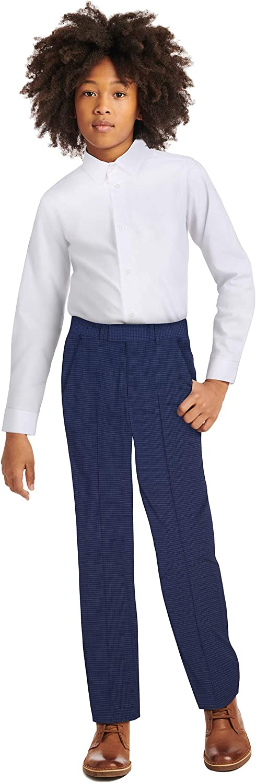 Calvin Klein Boys' Long Sleeve Slim Fit Button-Down Dress Shirt: Clothing