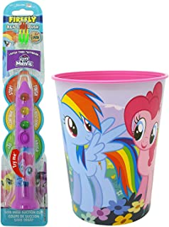 My Little Pony Pinkie Pie Toothbrush Dental Kit: 2 Items - Firefly Ready Go Toothbrush, My Little Pony Character Rinse Cup