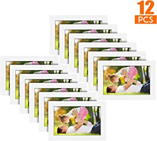 A Selected 12 Packs 4x6 Picture White Wood Frames with Picture Hanging Kits for Wall Picture and Table Desk Top