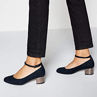 467ceccfe6161 Good for the Sole Womens Navy Suedette 'Grazer' Block Heel Wide Fit Court  Shoes