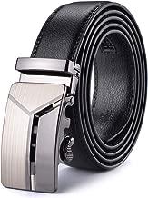 Noir Xhtang Ceinture pour Homme en Cuir avec Boucle Automatique Longueur:140cm