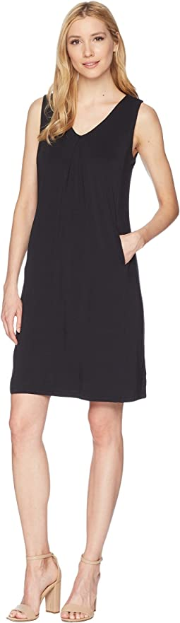 V-Neck Jersey Dress with Pockets