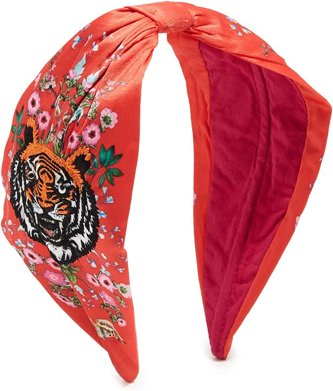 NAMJOSH Women's Tiger Embroidered Headband