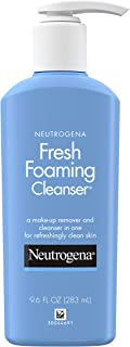 Neutrogena Fresh Foaming Facial Cleanser & Makeup Remover with Glycerin, Oil-, Soap- & Alcohol-Free Daily Face Wash Remove...