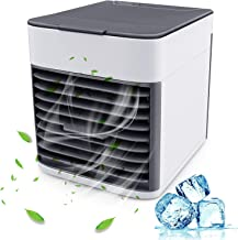 Personal Air Cooler, 3 in 1 Mini Portable Air Conditioner with 3 Speeds Fan 7 Colors LED Sleeping Lights AC Air Conditioner Purifier for Room Indoor Office Bedroom Living Room