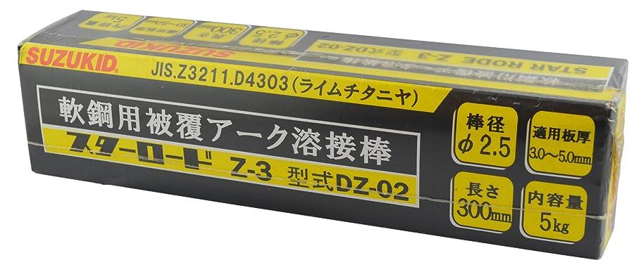 気質火山の余剰スズキッド(SUZUKID) Z-3 2.5φ*300mm 5kg DZ-02