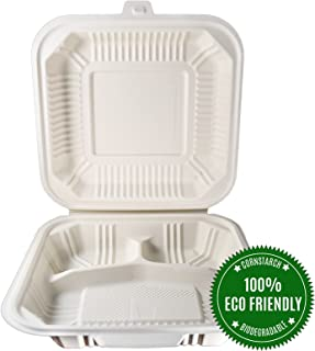 [100 Count] Eco Friendly To Go Containers (8