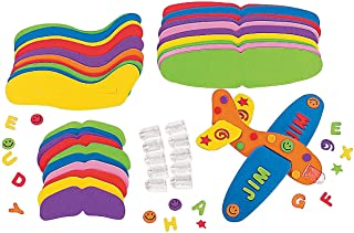Fun Express - DIY Fabulous Foam Great Gliders - Craft Kits - Party Craft Kits - Toys - 12 Pieces