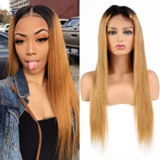 Xtrend 13×6 Lace Front Wigs for Black Women Ombre 8A Brazilian Wig with Baby Hair Virgin Long Straight Hair Wig Human Xtrend Hair 16