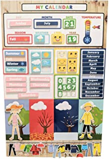 My First Daily Magnetic Learning Calendar For Kids, Educational Calendar for Fridge, Kids Preschool & Play Based Weather C...
