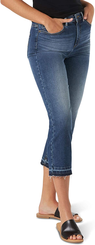 Lee Women's Legendary Regular Fit High Rise Released Hem Crop Capri Jean