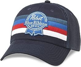 PBR Pabst Blue Ribbon Beer Striped Adjustable Royal Navy Snapback Hat