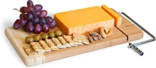 Topline Bamboo Cheese Board with Wire Slicer